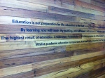 Some inspirational quotes from Jade's building at the University of Melbourne!
