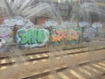 There's a lot of graffiti around the train tracks throughout the city. It's neat.